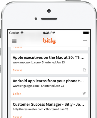 Bitmark list in the iPhone app